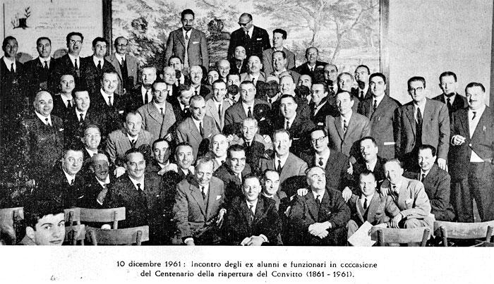 Incontro degli ex alunni e funzionari in occasione del Centenario della riapertura del Convitto (1861-1961)