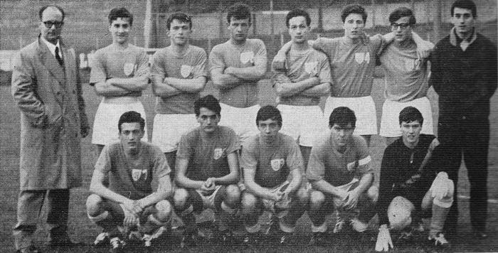 La squadra del Convitto che partecipò al Torneo del 1966
